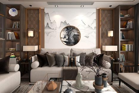 海口观邸二期9栋新中式装修效果图
